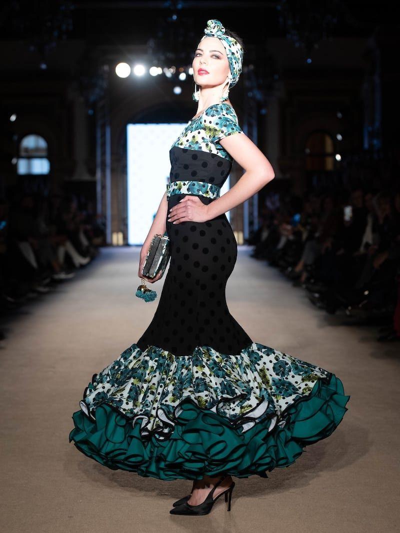 Vestido de flamenca manga corta
