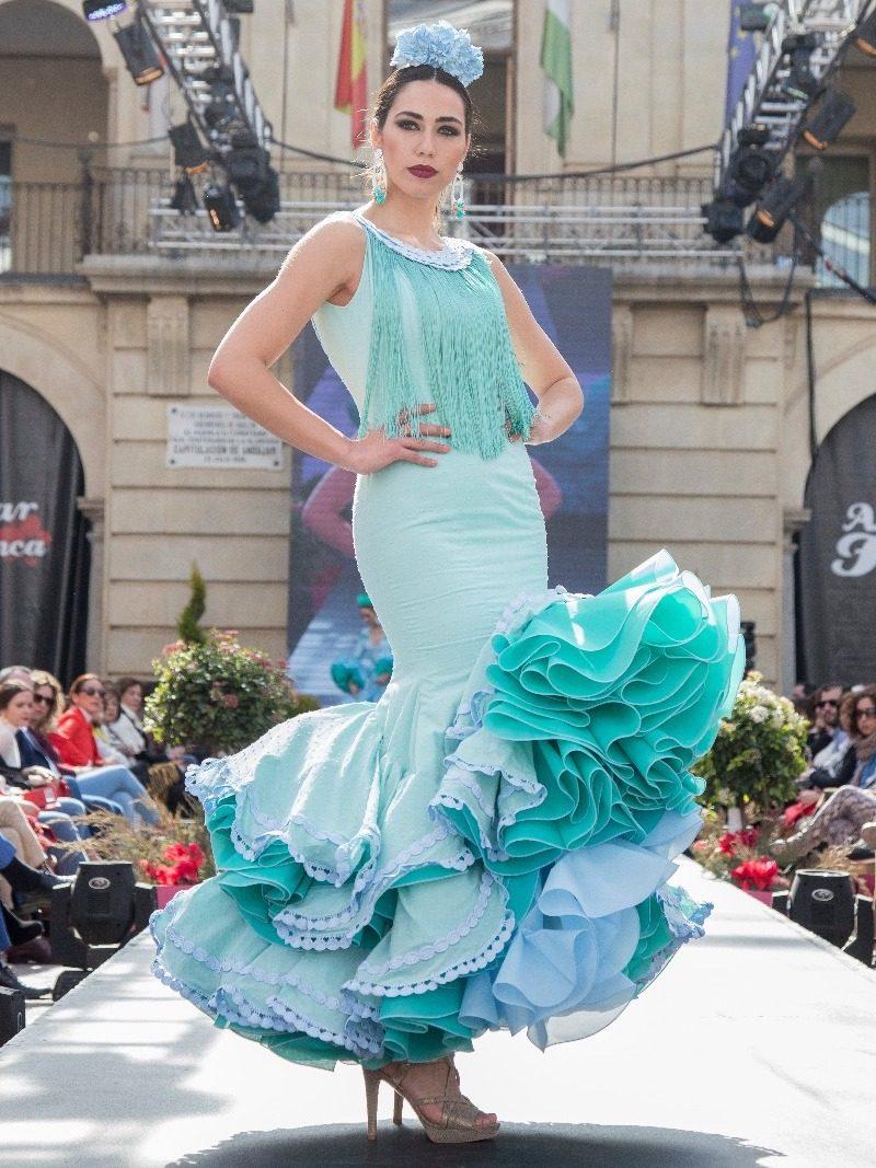 Vestido de flamenca sin mangas