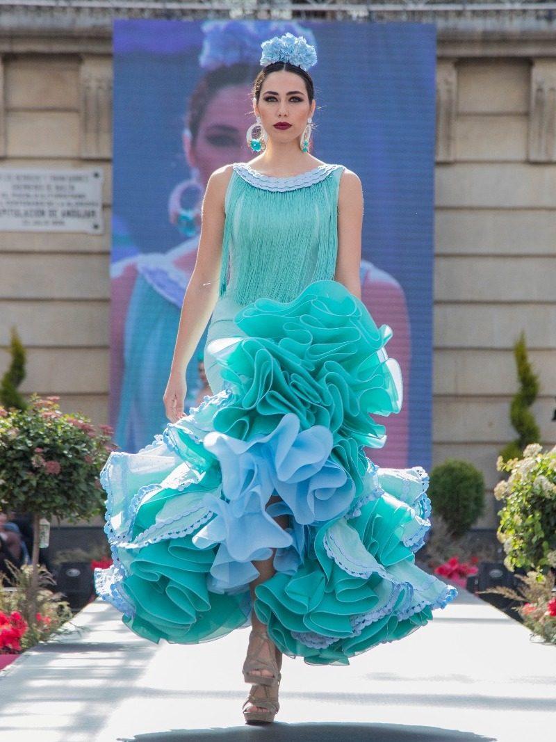 Vestido flamenca de flecos
