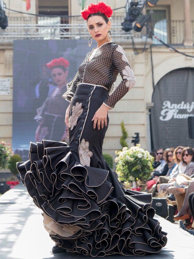 blusa de gasa de flamenca