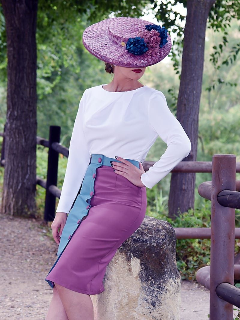 blusa manga larga pliegues