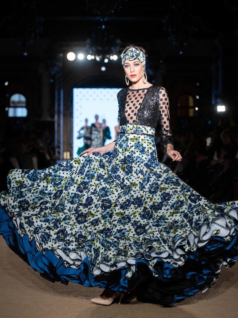 falda de flamenca estampada