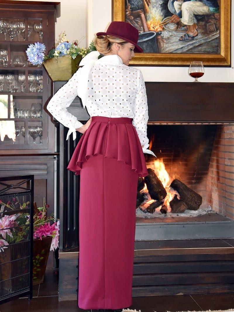 falda ecuestre larga