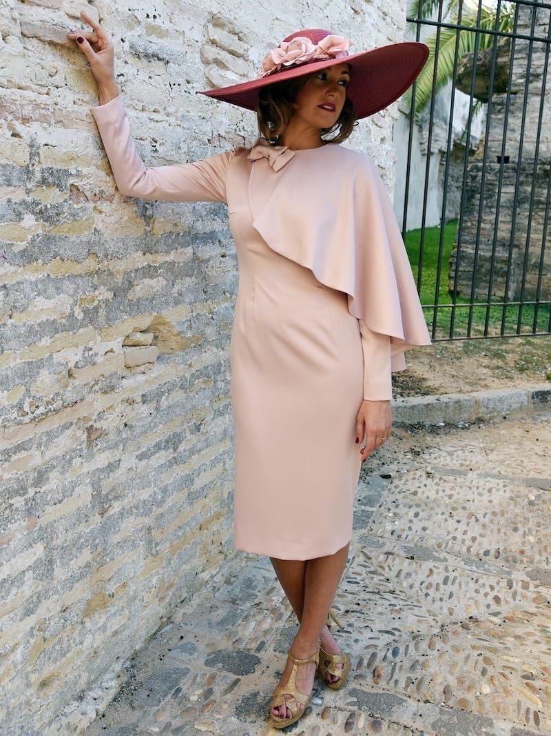 vestido tejido crepe
