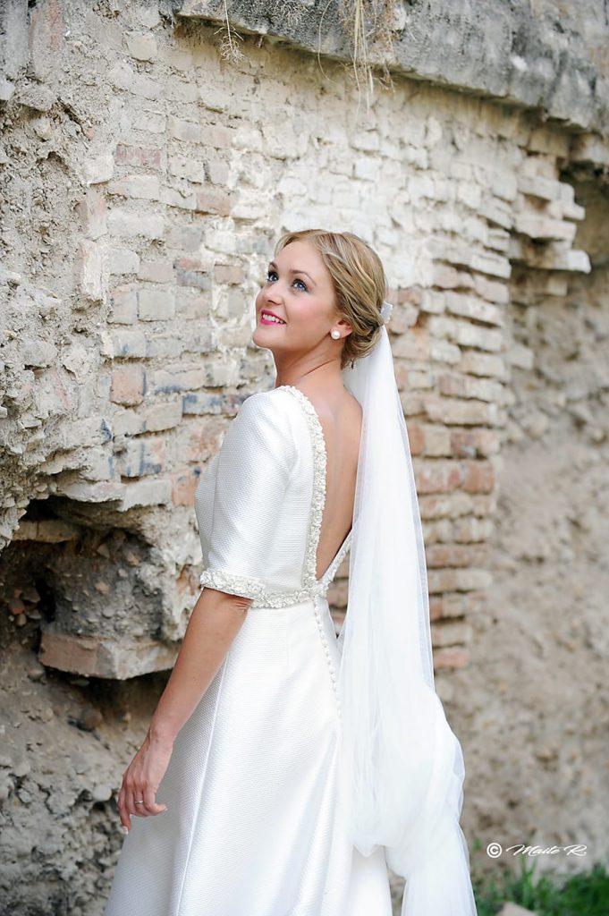 Elegante vestido novia Sara de Benitez