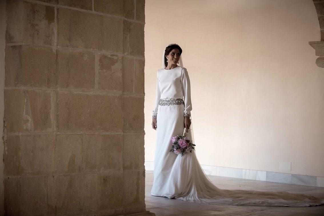 Moda nupcial romantica Sara de Benitez
