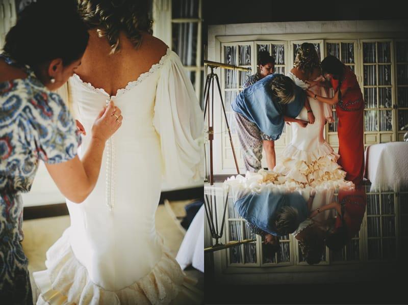 Traje de novia en el Rocio