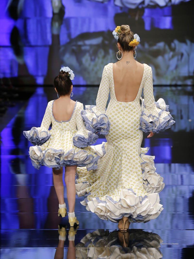 Traje de flamenca de lunares mostaza