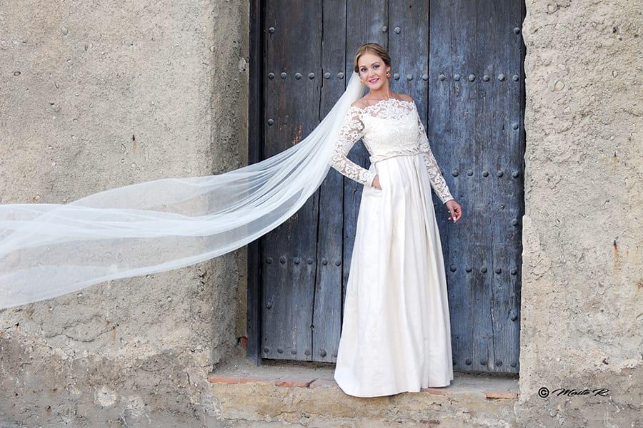 Vestido novia a medida elegante
