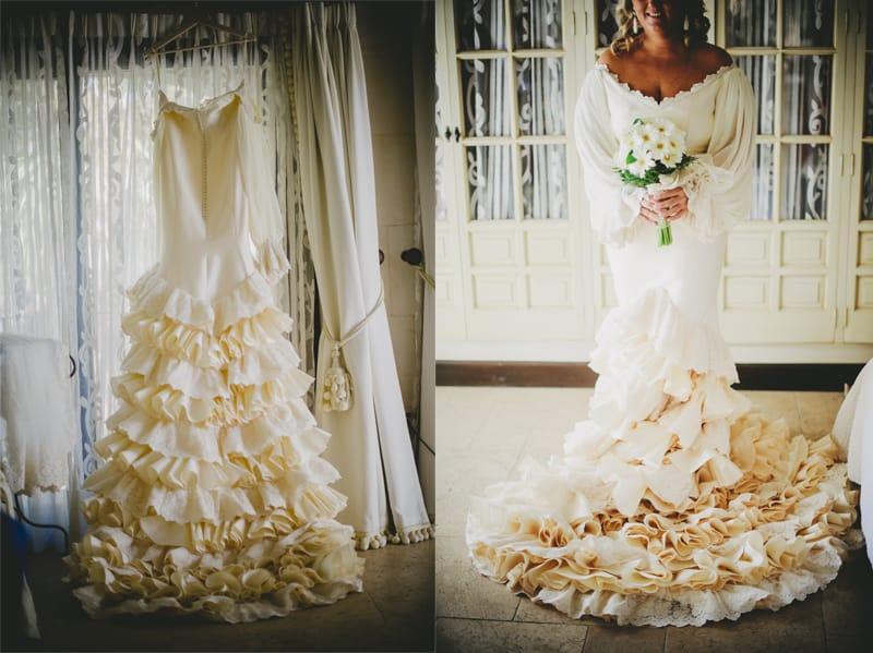 Vestido novia en el Rocio