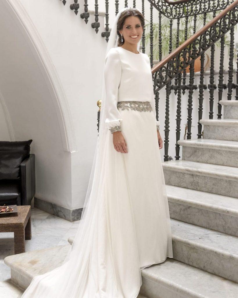 Vestido novia romantico Sara de Benítez