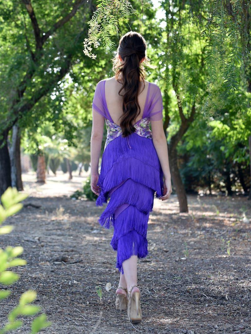 vestido estampado para boda
