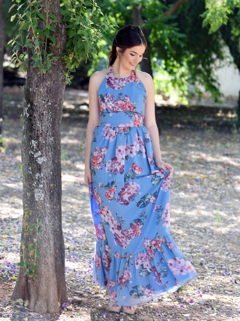 vestido largo vaporoso