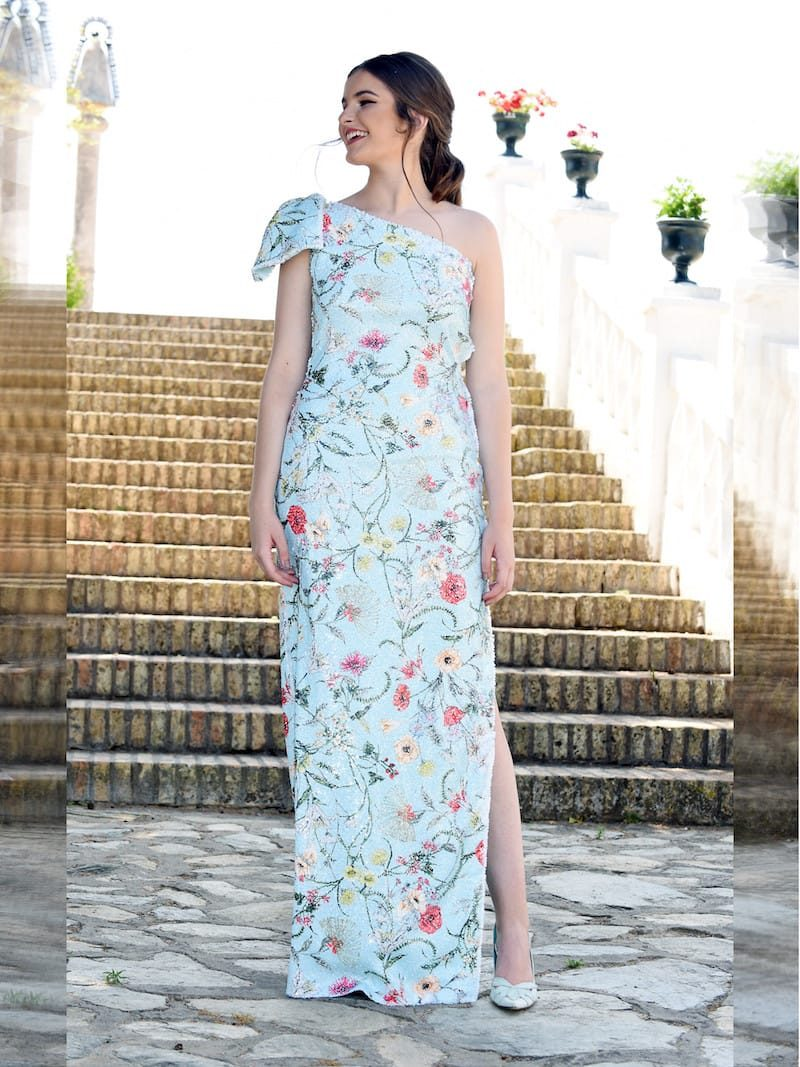 vestido para boda raja lateral