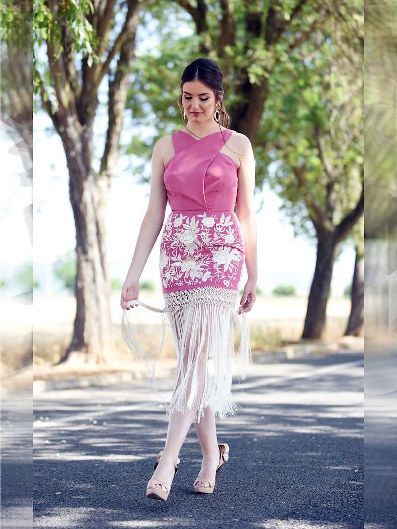 vestido tipo manton
