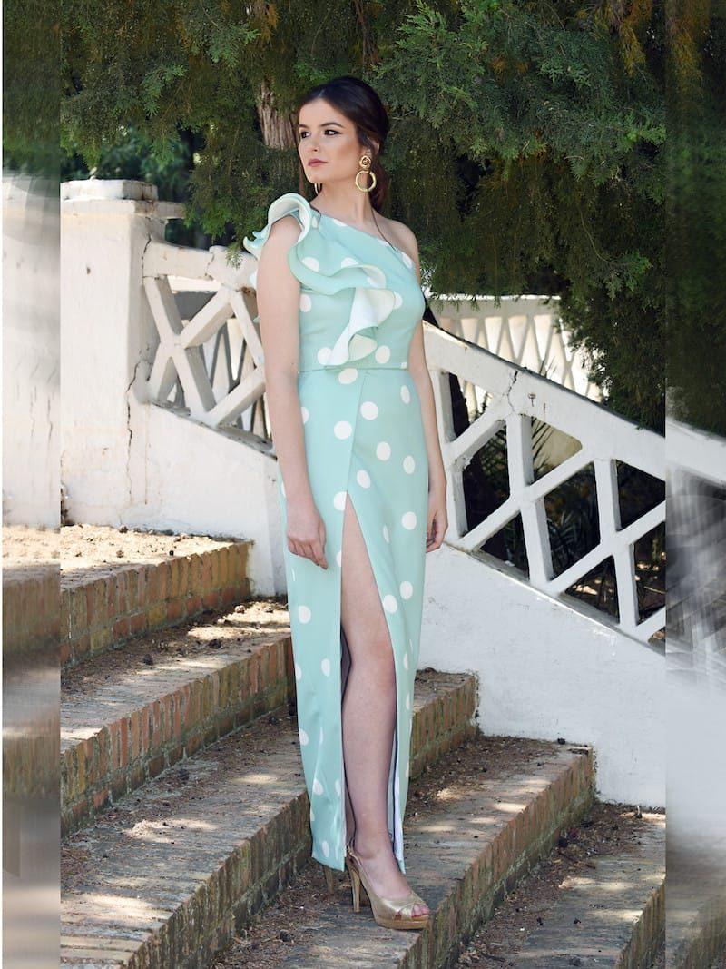 vestido verde agua boda