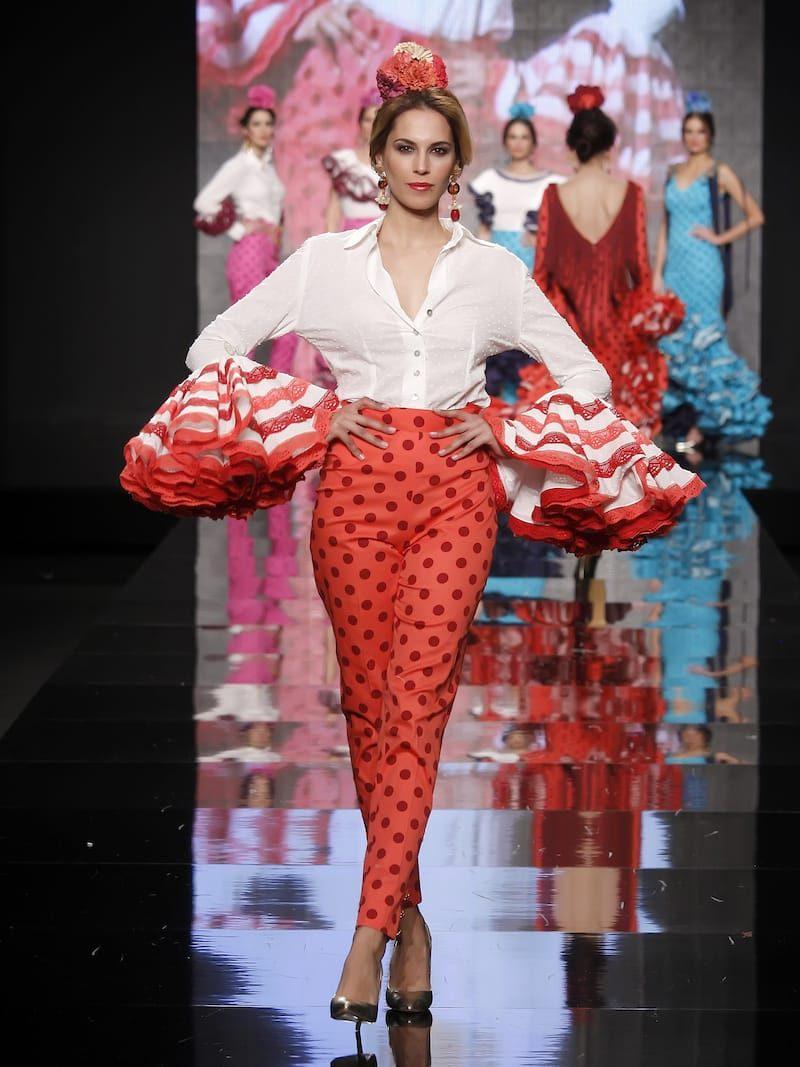 Blusa de flamenca de batista blanca