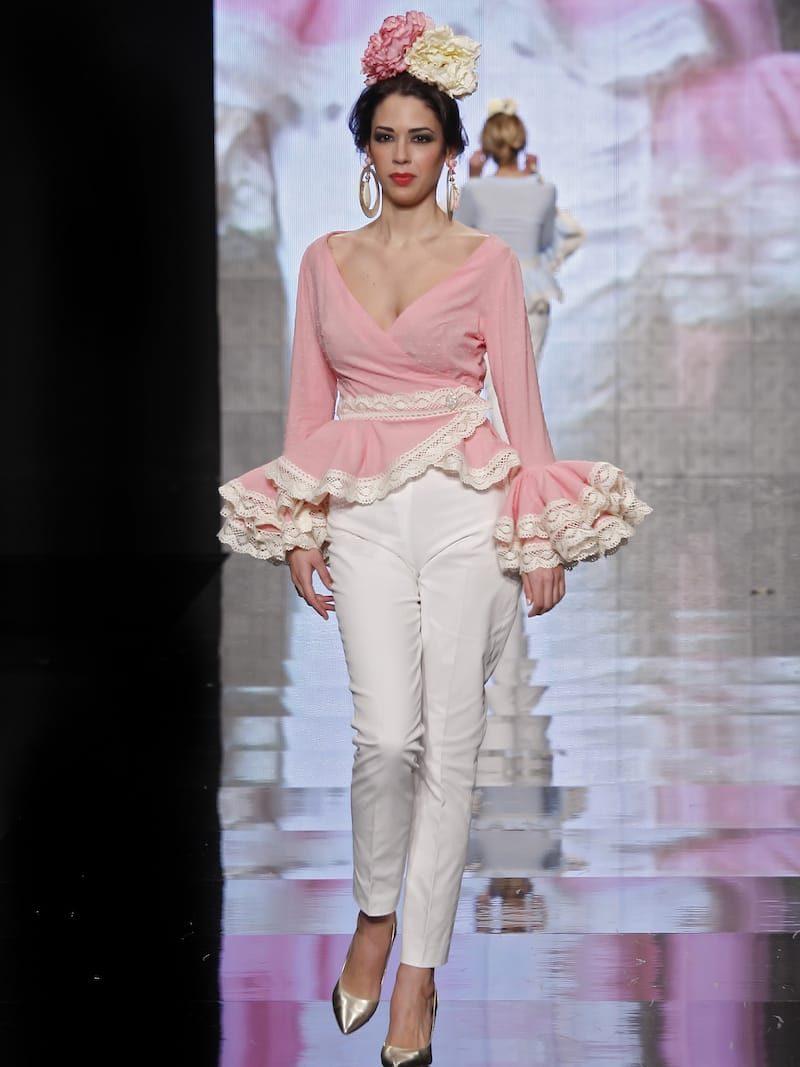 Blusa de flamenca batista rosa