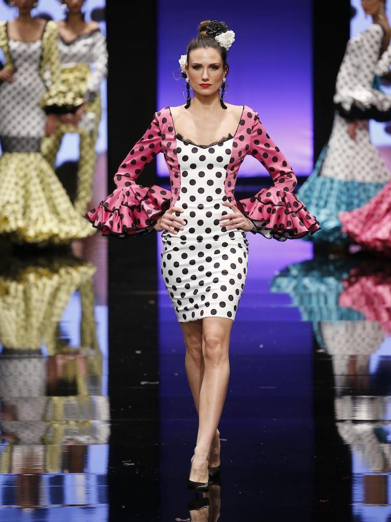 Vestido estilo flamenco en dos colores