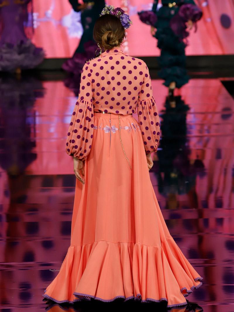 conjunto-flamenca-blusa-y-falda-melocoton