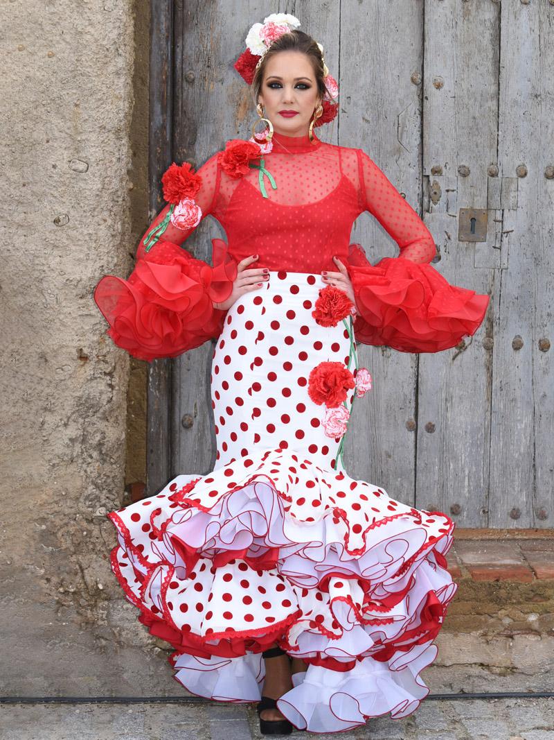 traje-de-gitana-falda-lunares-rojos