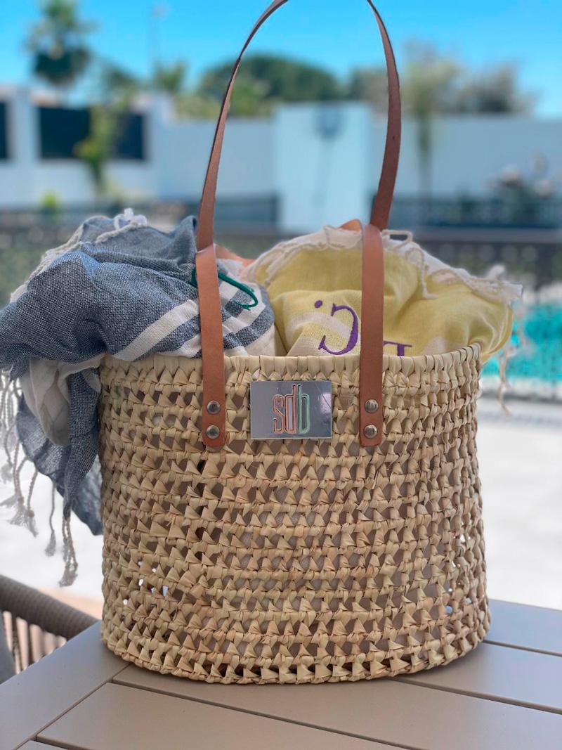 Bolso de playa asa larga de piel