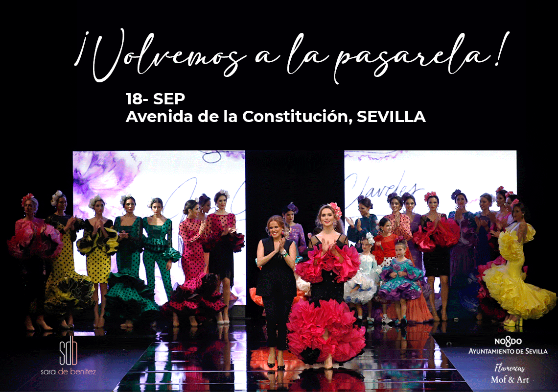 desfile trajes de flamenca en sevilla septiembre 2021